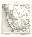 Forests of Curg and Mysore. India. Sketch map 1885 old antique plan chart